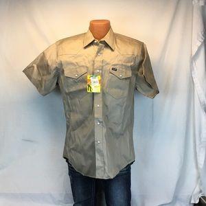 Wrangler Pearl Snap Short Sleeve Button Shirt NWT